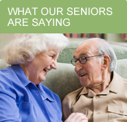 See what our seniors are saying about our senior care services.